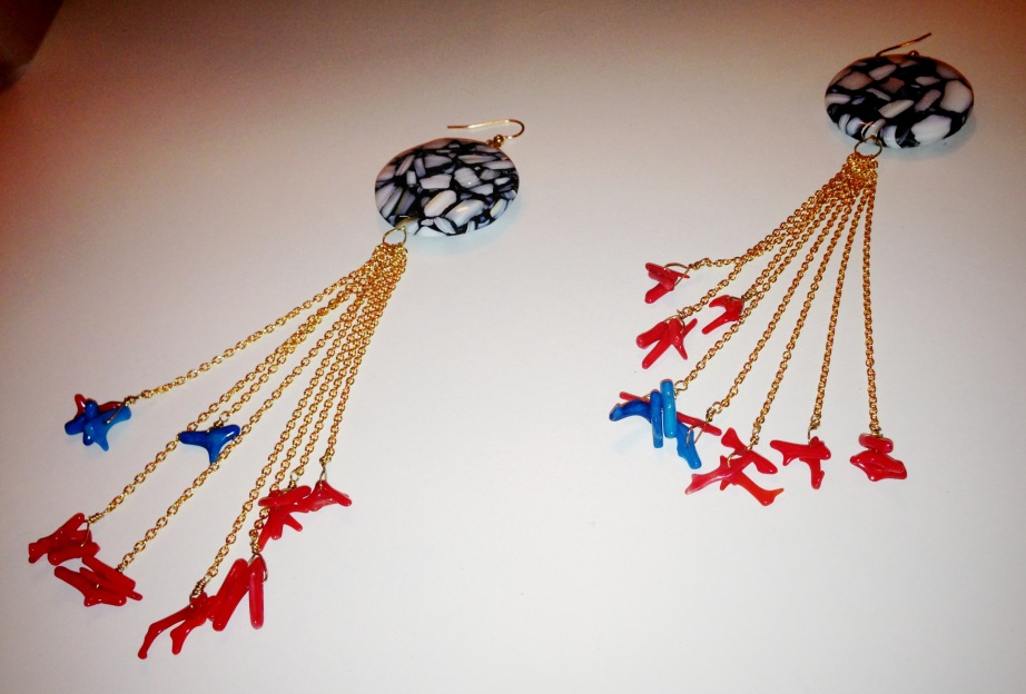 Red 'Resort' Earrings